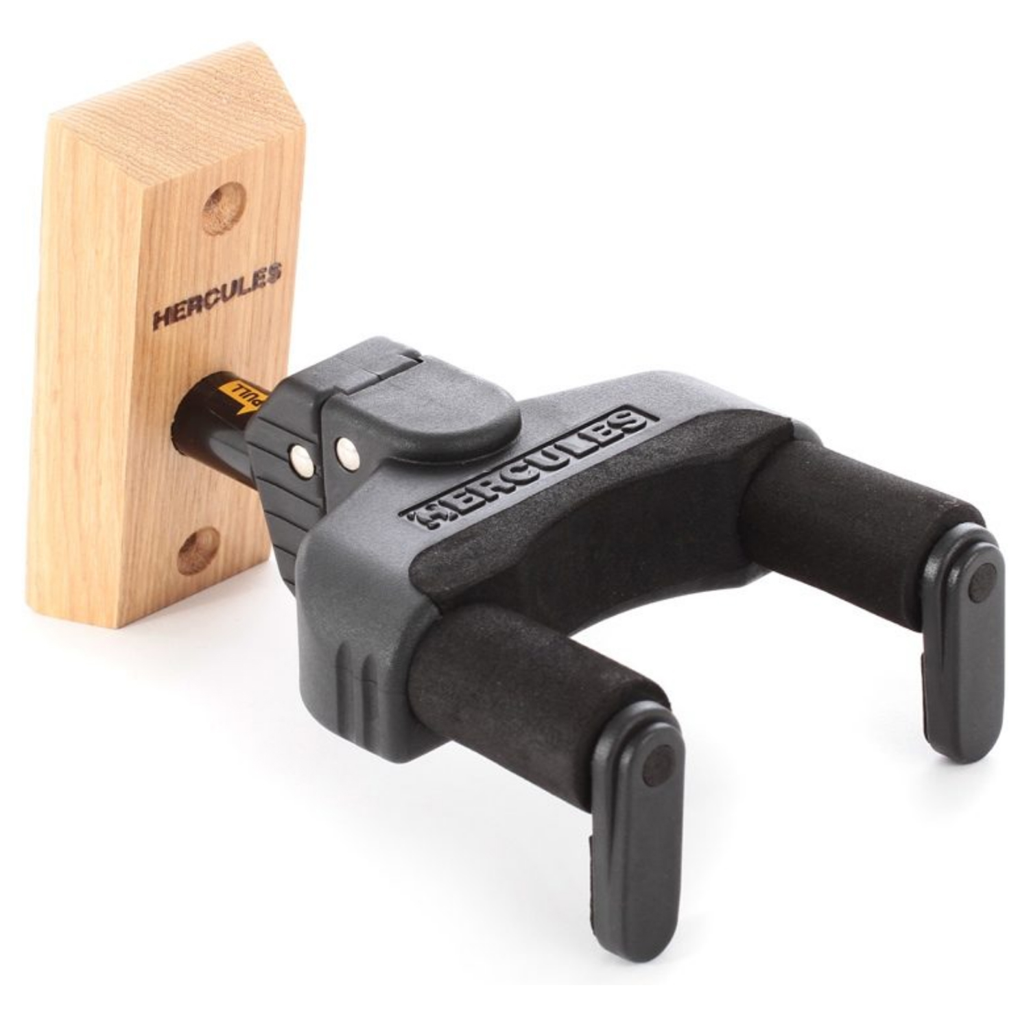 Auto Grip guitar hanger for wall mounting w/ wood base, short arm