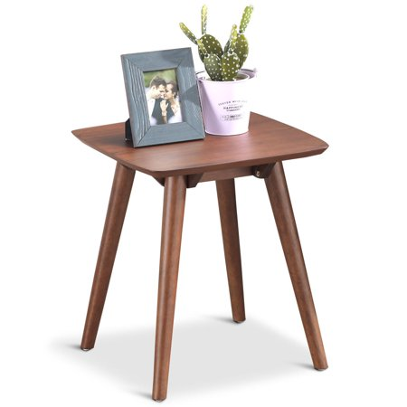 Gymax End Table Side & Coffee Table Wood Legs Living Room Home Office -