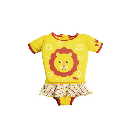 d221a4e6f6209 Fisher-Price Girls Float Suit, M/L, Yellow/Red - Walmart.com