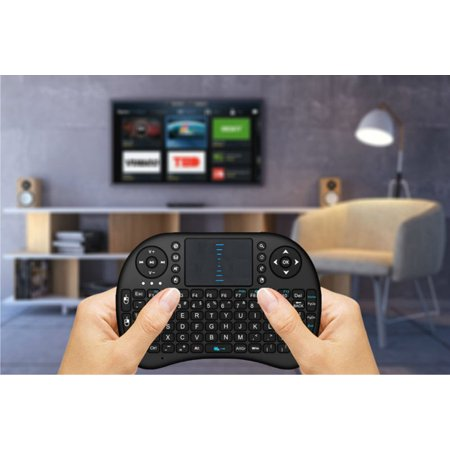 Mini i8 Wireless Qwerty Keyboard Multimedia Remote Control Keys and PC Gaming Control Touchpad Handheld Keyboard for PC Pad Android Smart TV - image 1 of 7