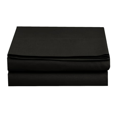 Ralph Lauren Queen Flat Sheet - Flat Sheet ! - Elegant Comfort® Wrinkle-Free 1500 Thread Count Egyptian Quality 1-Piece Flat Sheet, Queen Size, Black
