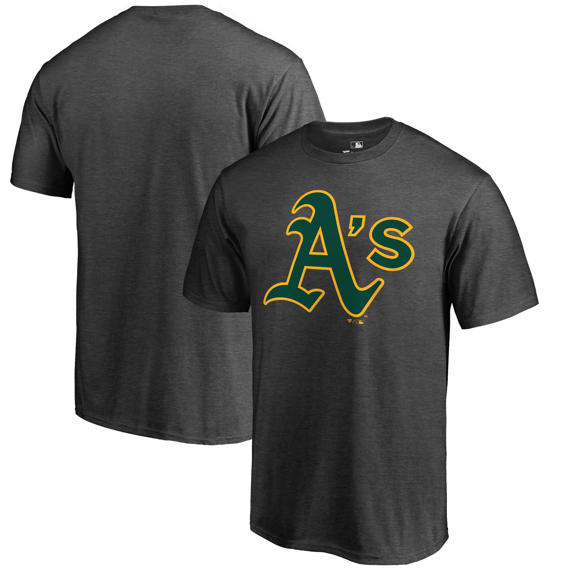 Oakland Athletics Fanatics Branded Big & Tall Primary Logo T-Shirt - Heathered Charcoal