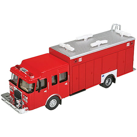 Ho Scale Truck - Walthers HO Scale Hazardous Material Fire Department Truck Red Emergency Vehicle