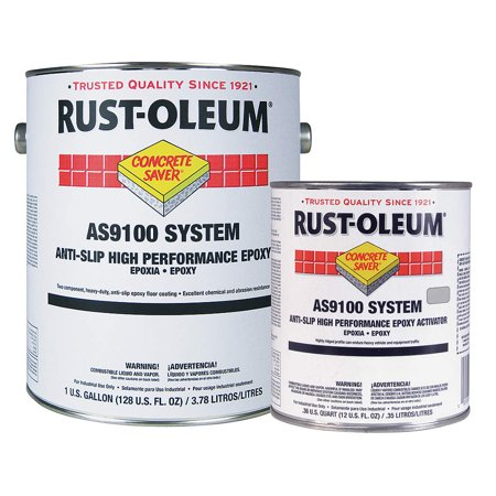 RUST-OLEUM AS9144425 1 gal. Anti-Slip Floor Coating, Polyamine Converted