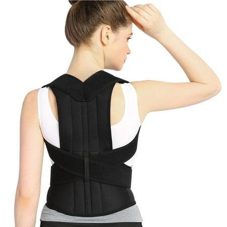7e4fc31ab7f0 EECOO Back Brace Posture Corrector Full Back Support Belts for Upper and  Lower Back Pain Relief, with Adjustable Soft Elastic Shoulder Straps, Men  ...