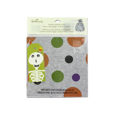 Halloween themed gift wrap kit - Pack of 96 - Halloween Themed City Names