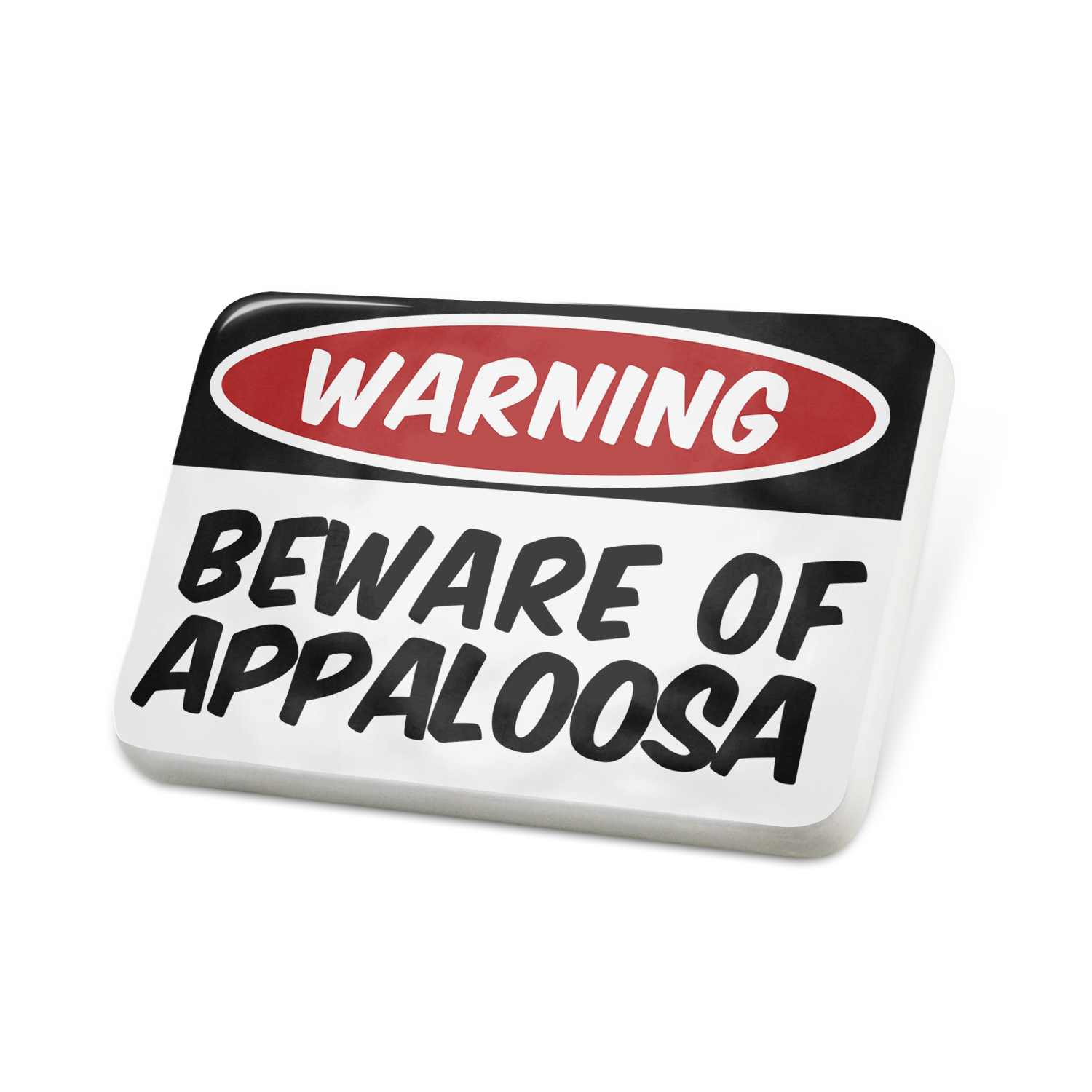 Porcelein Pin Beware of the Appaloosa, Horse Lapel Badge – NEONBLOND