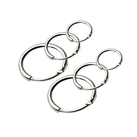 7310816bf 3 Pairs Earrings Hoop 8mm 10mm 12mm,Earring Round Small Sleeper Hoops  Earring Caroj ...