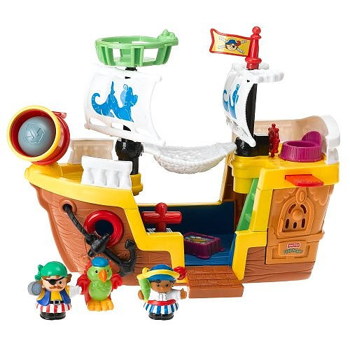 Fisher Price Little People Pirate Ship by Mattel
