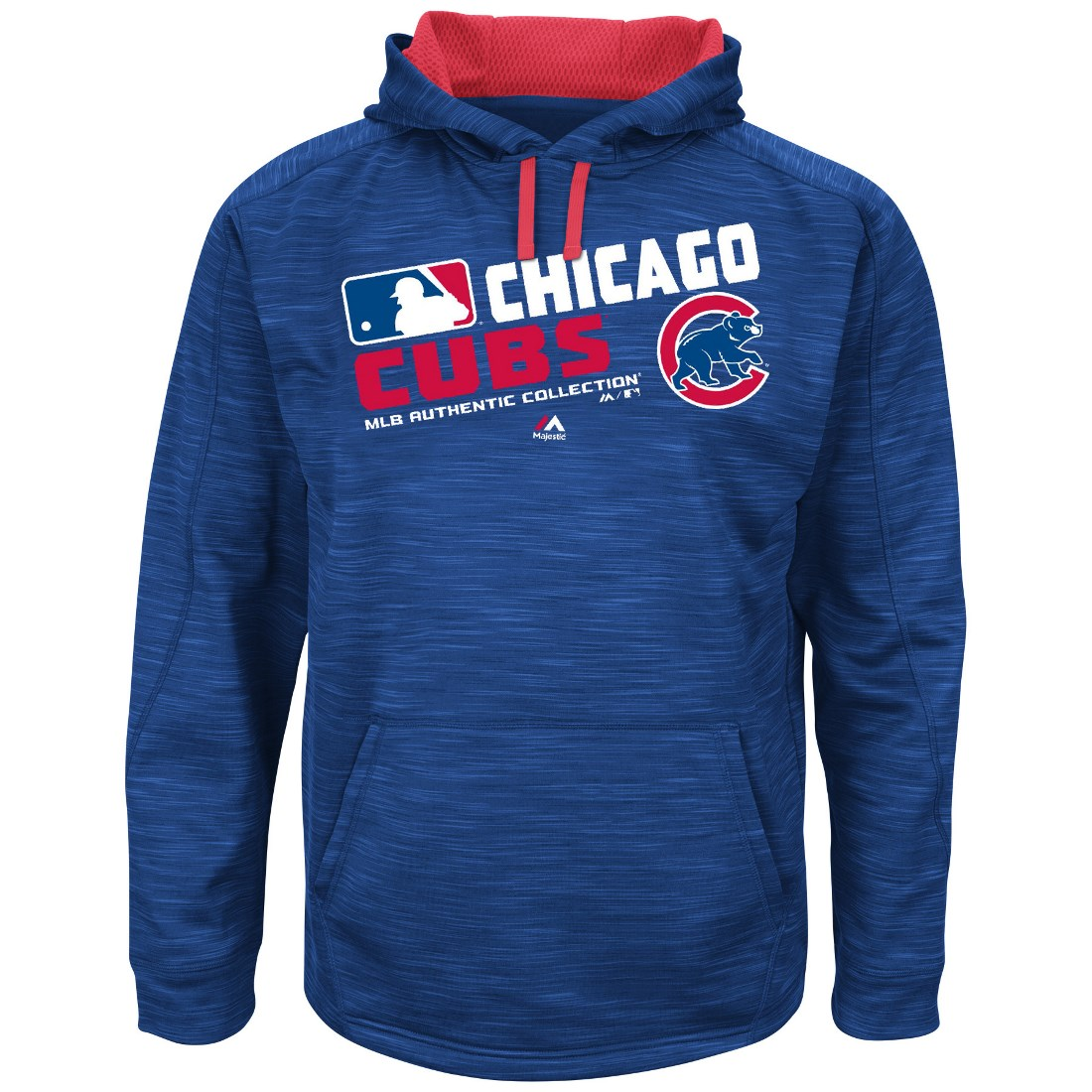"Chicago Cubs Majestic MLB ""Team Choice"" On-Field Hooded Sweatshirt"