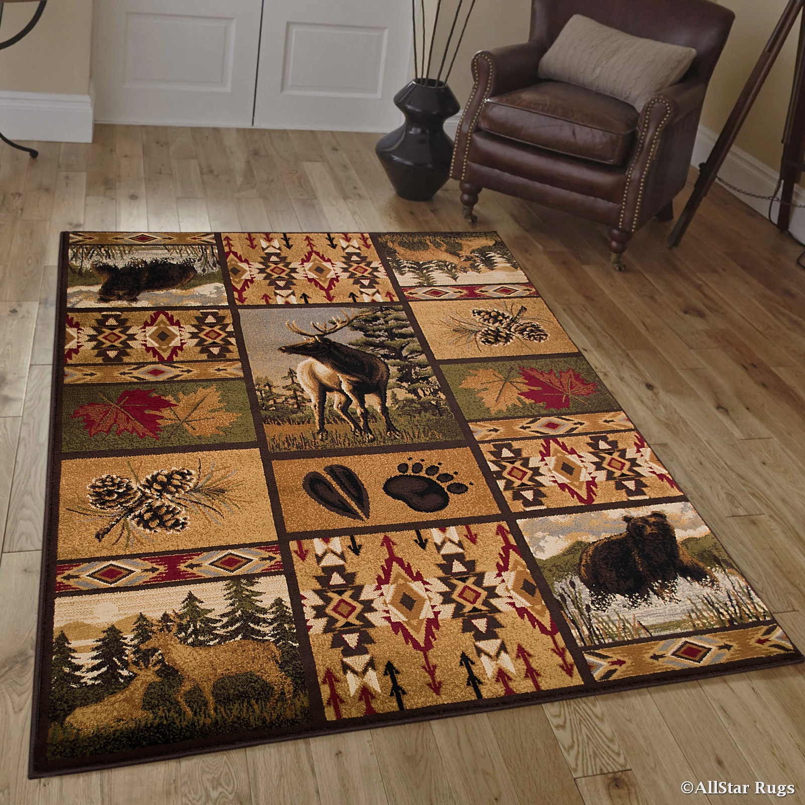 Allstar African Contours Collection Prints Area Rug 3 9