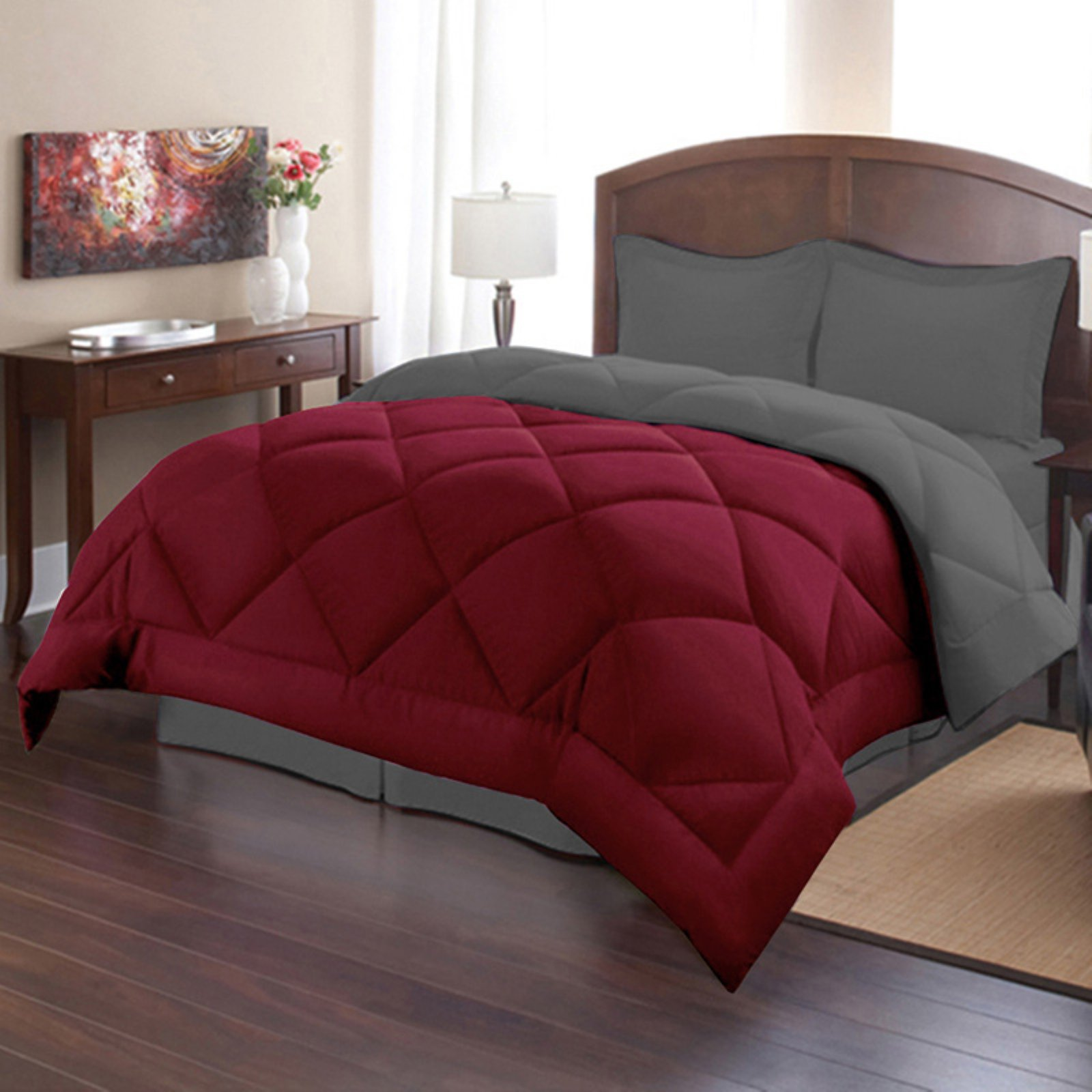 Down Alternative Reversible Comforter Set by Sweet Home Collection