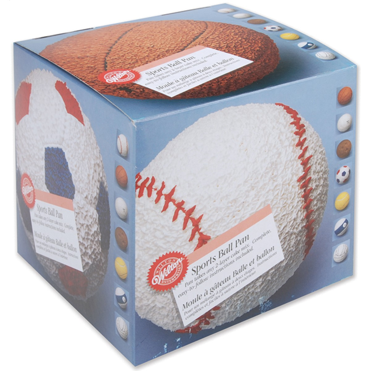 Wilton Aluminum Shaped Pan, 3-D Sports Ball Set