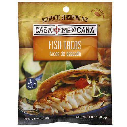 Casa Mexicana Fish Tacos Dry Seasoning Mix, 1 oz, (Pack of 12)