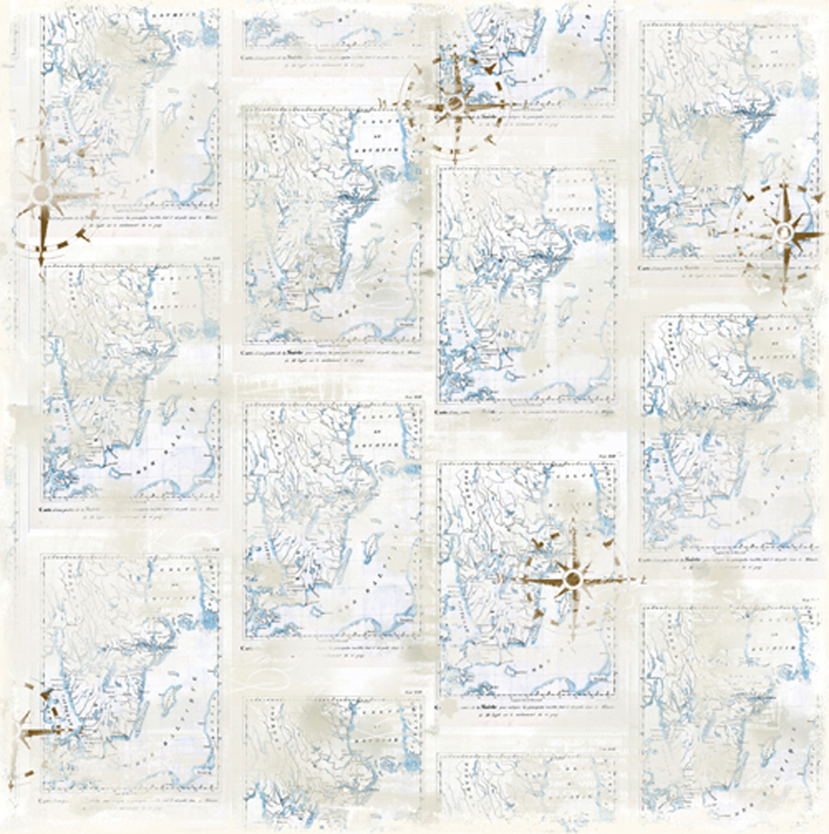 "Summer Memories Heavyweight Cardstock 12""X12""-Scandinavian Map"