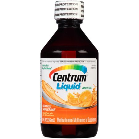 (Centrum Liquid Adult Multivitamin Liquid, Orange Tangerine Flavor, 8 fl oz bottle)