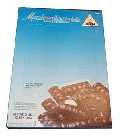 Joyva Chocolate Covered Vanilla Marshmallow Twists, 5 Pounds