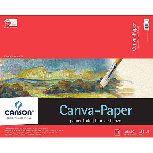 "Canson Paper Canvas Pad, 16"" x 20"", Pad of 10 Sheets"