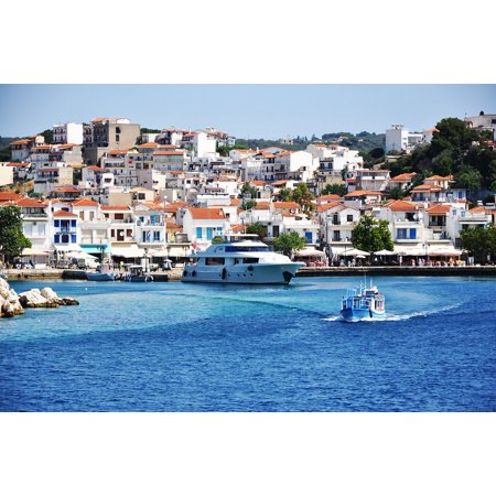 LAMINATED POSTER Vacation Journey Yacht Greece Boat Sea Ship Poster Print 24 x 36 ()
