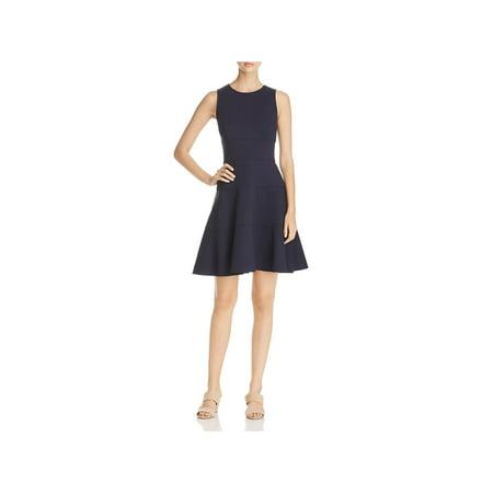 Three Dots Womens Ponte Raw Hem Casual Dress