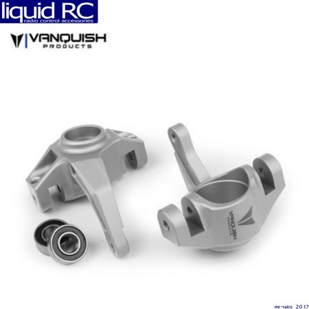 Vanquish 06551 Axial Yeti / Exo Steering Knuckles Clear Anodized