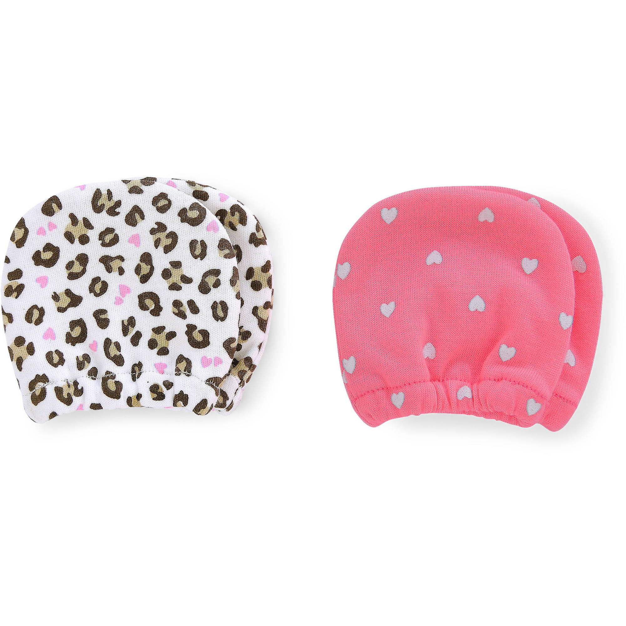 Child of Mine by Carter's Newborn Baby Girl Zebra Mittens, 2 Pack