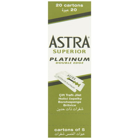 100 Astra Superior Premium Platinum Double Edge Safety Razor (Best Double Edge Safety Razor For Beginners)