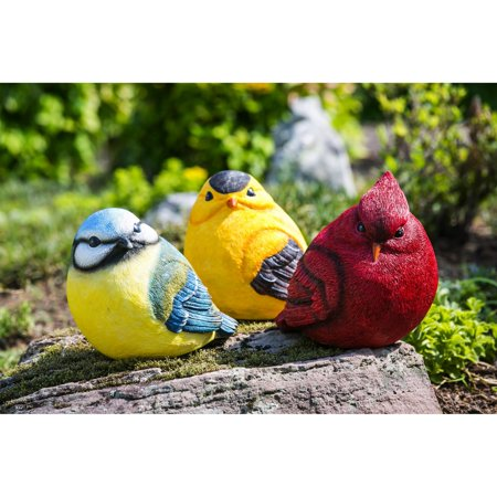 Evergreen Enterprises For the Birds Portly Statue - Set of 4