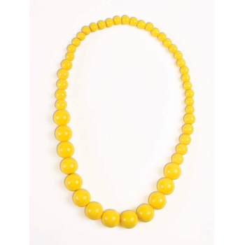 YELLOW BIG PEARLS NECKLACE