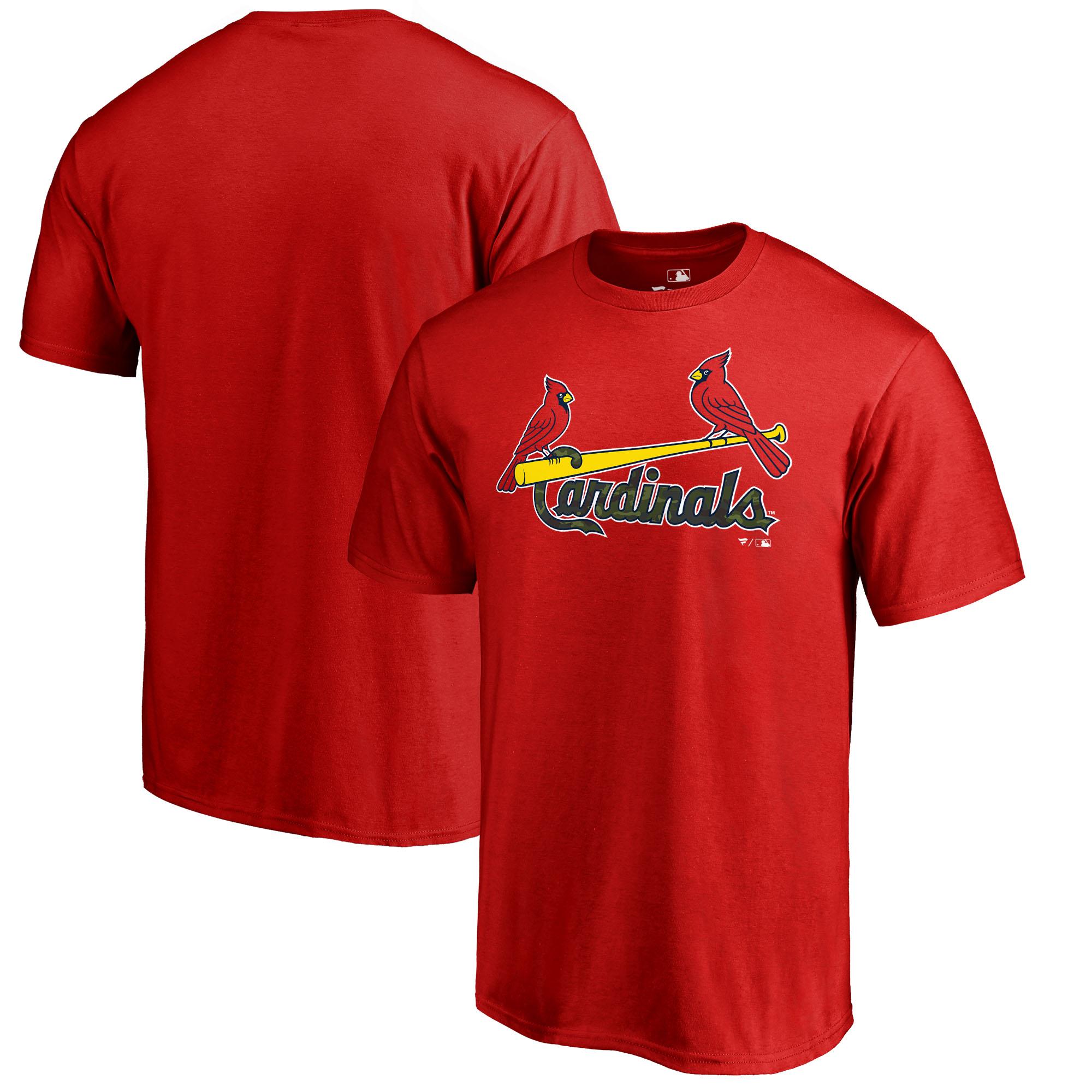 St. Louis Cardinals Fanatics Branded 2018 Memorial Day Wordmark T-Shirt - Red
