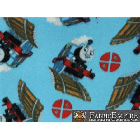 Fleece Fabric Printed ANTI PILL THOMAS THE TANK ENGINE TRAIN LICENSED