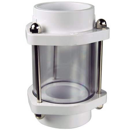 In-line Backwash Sight Glass