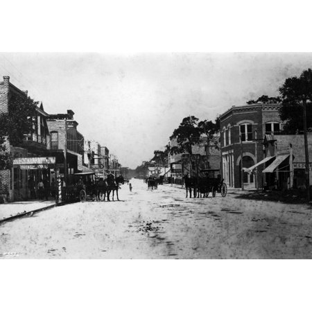 View Looking West on East Flagler Street from Near 1st Avenue, 1899 Print Wall