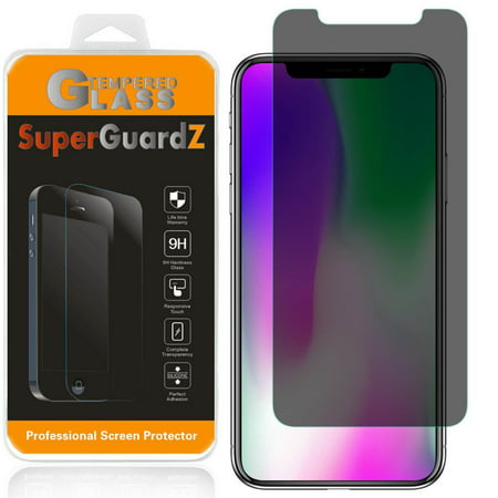 - [2-Pack] iPhone XS Max SuperGuardZ Tempered Glass Screen Protector [Privacy Anti-Spy], Keep Your Screen Secret, 9H Anti-Scratch, Anti-Bubble