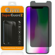 [2-Pack] iPhone XS Max SuperGuardZ Tempered Glass Screen Protector [Privacy Anti-Spy], Keep Your Screen Secret, 9H Anti-Scratch, Anti-Bubble
