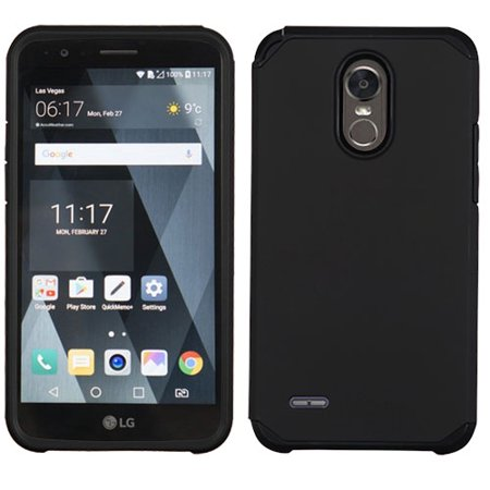 LG Stylo 3 / LS777, Stylo 3 Plus, LG MP450, LG TP450 - Phone Case  Shockproof Hybrid Rubber Rugged Case Cover Slim BLACK