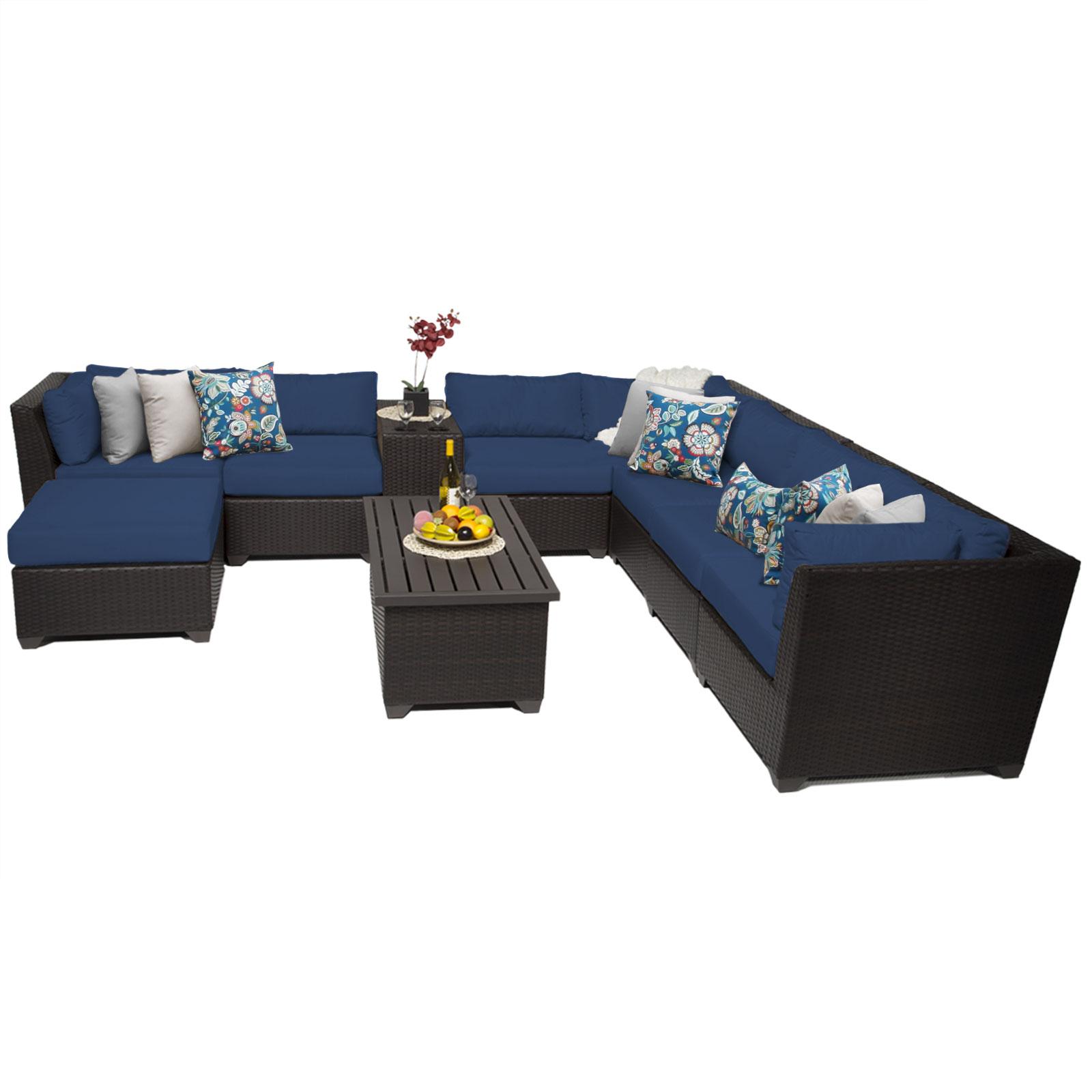 Bermuda 10 Piece Outdoor Wicker Patio Furniture Set 10b by TK Classics