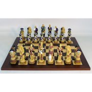 Royal Chess Spartacus Chess Set - Dark Rosewood/Maple Board with Frame