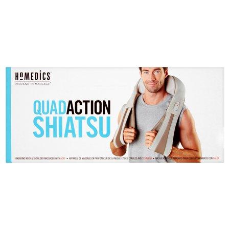 Homedics Quad Action Shiatsu Kneading Neck   Shoulder Massager With Heat