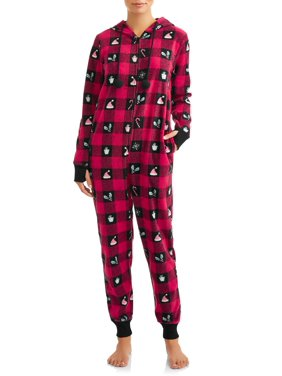 Nite Nite by Munki Munki Women's Holiday Unionsuit