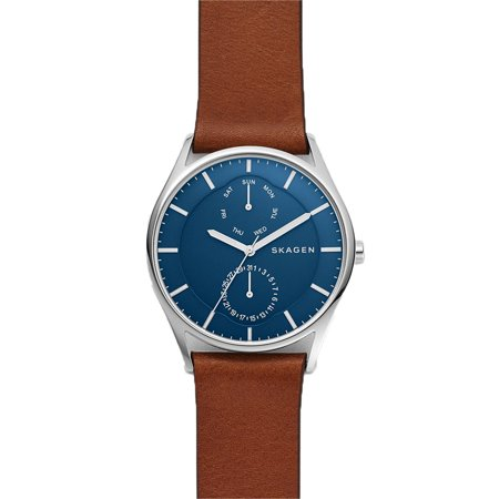 Skagen Holst 40mm Multifunction Movement Mens Watch with Brown Leather Strap - image 2 of 3