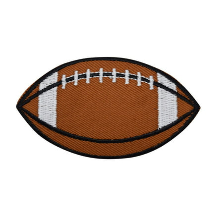 Football Club Patch (Large Brown/White Football - Iron on Applique/Embroidered Patch)
