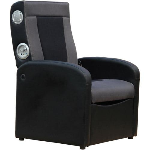 X Rocker Triple Flip 2.0 Storage Ottoman Sound Chair, Black/Gray, 0711701