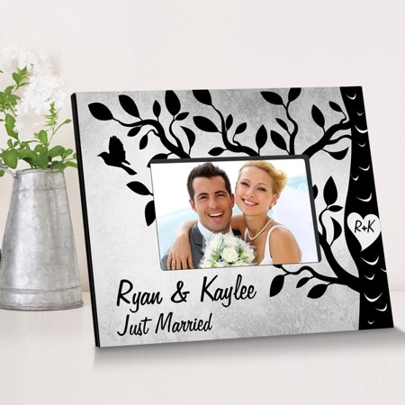 Etched Frame (Personalized Etchings On The Tree Wooden Picture Frame )
