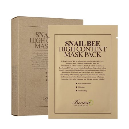 Benton Snail Bee High Content Face Sheet Mask, 10