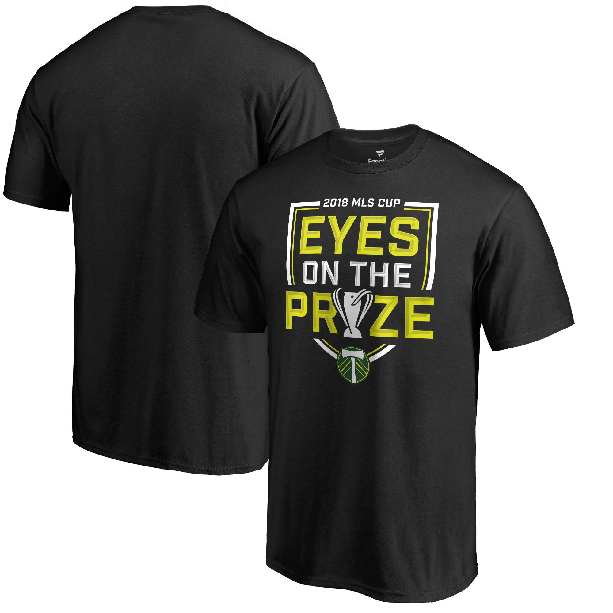 Portland Timbers Fanatics Branded 2018 MLS Cup Bound Pitch T-Shirt - Black
