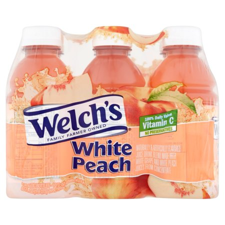 Welch's White Peach Juice Drink 6 Pack - Walmart.com