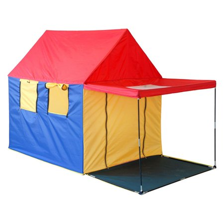 GigaTent Summer House Play Tent 4 Large Windows With Skylight & Porch Shade