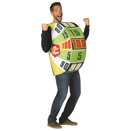 The Price Is Right The Big Wheel Neutral Adult Halloween Costume, One Size, (40-46) - Costume Hire Prices