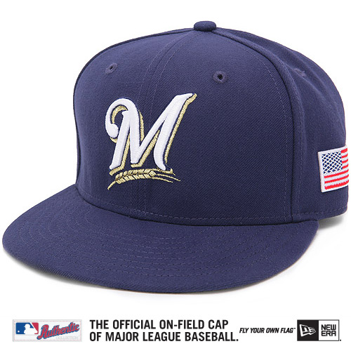 Milwaukee Brewers New Era September 11th On-Field 59FIFTY Fitted Hat - Navy
